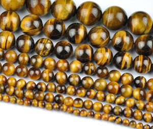 Wholesale Natural Tiger Eye Round Loose Stone Beads For Jewelry Making Diy Bracelet Necklace mm Strand