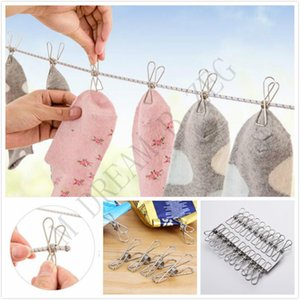 Wholesale 2 Sizes Stainless Steel Clothes Clips Socks Photos Hang Rack Parts Portable Clothing Clips Stainless Steel Pegs
