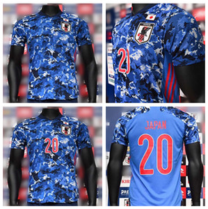 Wholesale 2020 japan soccer jersey home blue MINAMINO camisetas national team KAGAWA HONDA NAGATOMO OKAZAKI ATOM KUBO men kids football shirt