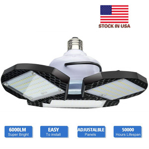 Wholesale bulb e26 resale online - LED Garage Lights W W E26 E27 LM Deformable Ceiling Lighting for Full Area LED Light Bulbs for Workshop barn Warehouse