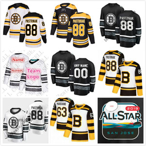 Wholesale 2019 All-Star Game Parley Customize Men Women Youth Jerseys Black White 88 David Pastrnak Boston Bruins Hockey Jerseys Stitched