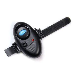 Wholesale Fishing Electronic LED Light Fish Bite Sound Alarm Bell Clip On Fishing Rod Black Tackle New