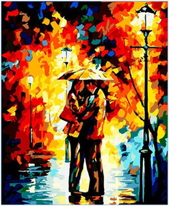 "Oil Paint DIY Painting By Numbers Kits Paint Adult Hand Painted-Abstract couple umbrella 16""x20"""