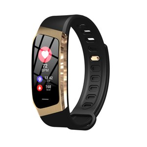 Wholesale Creative E18 smart watch color screen heart rate blood pressure sports step counter waterproof drinking water alarm reminder Bluetooth watch