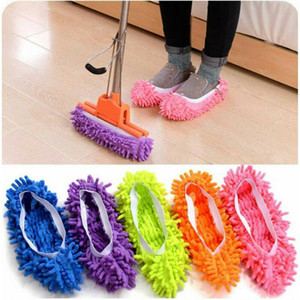 Wholesale Floor Dust Microfiber Cleaning Slipper Lazy Shoes Cover Mop Window Cleaner Home Cloth Clean Cover Microfiber Mophead Overshoes