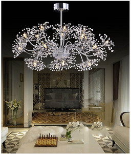 Wholesale dress room for sale - Group buy Modern simple LED crystal chandelier living room dining room creative lighting will be the wedding dress shop dandelion lamp