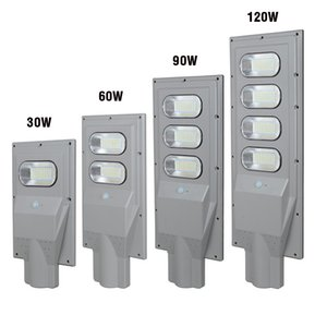 Wholesale power poles for sale - Group buy 30W W W Outdoor Garden Park Road Path Light Waterproof PIR Motion Sensor Solar Power LED Street Light with pole