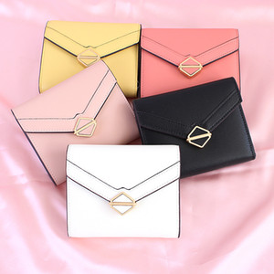 Wholesale Cheap fashion trend men s and women s small wallet business card holder ID credit card of colors black red yellow blue white size
