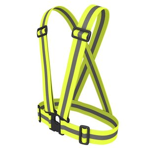 Wholesale Sports Safety Reflective Vest Fluorescent Luminous Stripes Wrist Band Cycling Running Reflective Straps Vest Safety Belt