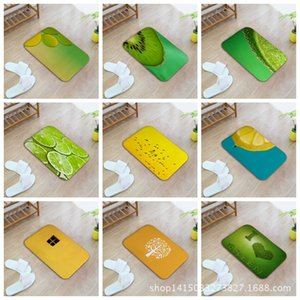 Wholesale Watercolor Fresh Lemon Kiwifruit Picture Home Furnishing Bedroom In Front Of The Door Non slip Land Pad Carpet Mixed Batch Customized