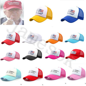 Wholesale 2020 Trump Embroidery Ball Cap Make America Great Again Baseball Caps Trucker Casquette Mesh Visor Snapbacks Ponytail Hats colour dc381
