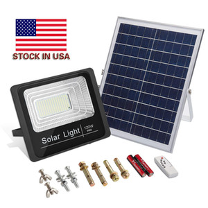 120W Solar Powered Street Flood Lights 196 Leds 5500 Lumens Outdoor Waterproof IP65 with Remote Control Security Lighting for Yard Garden