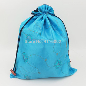 50pcs Fashion Sequin Drawstring Shoe Bags for Travel Storage Protective Case Dust Bags Satin Fabric Bra Underwear Pouch