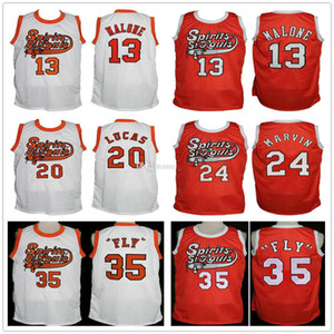 "Wholesale retro James ""fly"" Williams 35 Moses Malone 13 Maurice Lucas 20 Marvin Barnes 24 Freddie Lewis 14 Spirit of St. Louis Basketball Jersey Men's"