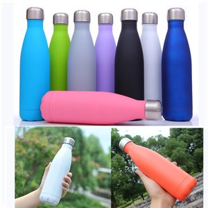 Wholesale Vacuum Insulated Stainless Steel Water Bottle Solid Color Cola Shape Water Bottle Keeps Drinks Cold Hot Cola Shape Cup Outdoor Kettle