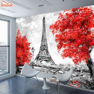paris eiffel tower room decor оптовых-3d фото Mural Обои Wall Papers Home Decor для г Living Room TV Обои Papel De Parede Париж Эйфелева башня