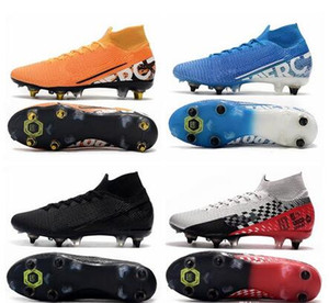 Mens High Tops football boots GOODXCRAZY superfly 6 Elite FG Soccer Shoes Ronaldo cr7 Mercurial Superfly VI 360 Neymar ACC Soccer Cleats