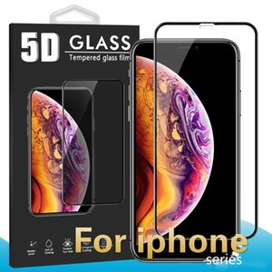 Wholesale For Iphone XR XS MAX X D Tempered Glass screen protector Full Body Cover Curved Film Protector For Iphone S Plus With Package