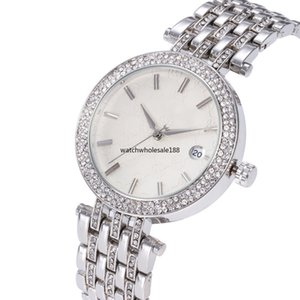 Wholesale MK AA Women Luxury China Wristwatch Quartz Battery Designer Ladies Waterproof Dress Diamond Stainless Steel Gold Silver T T Watches