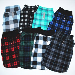 Wholesale Buckle Big Dog Clothes Pets Keep Warm Fleece Winter Eight Models Lattice Style Sweatshirt Traction Factory Direct Sales el7C1