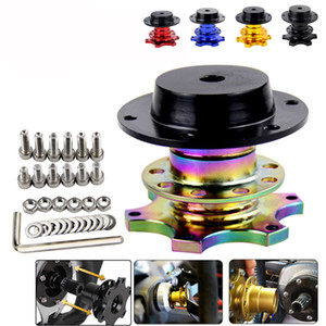 Car Steering Wheel Quick Release Hub Boss Kit Quick Release Steering Wheel Adapter For 6 Hole Steering Wheel Hub