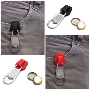 Wholesale Fashion Zipper Bottle Beer Opener Colors Hangings Adult Key Ring Stainless Steel Creative Wine Openers