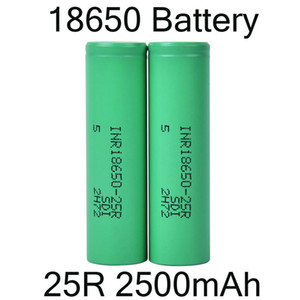 Wholesale 18650 batteries resale online - 2500mah INR R Battery With Lithium Battery Flat Top Rechargeable Batteries for Flashlight Headlamp DHL Free FJ752