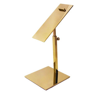 Wholesale Metal Polished Gold Shoe Display Stand Riser shoe Bracket Metal Shoe Holder rack