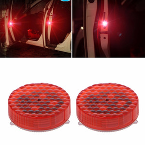 Wholesale 1 Pair Universal Waterproof Wireless Car Door LED Safety Warning Light Strobe Flicker Anti Collision Flash Light TYPE New
