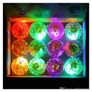 Wholesale 12pcs Pack Hi Bouncing Balls Bouncy Ball Bounce Ball Led Flash Lighting Ball For Kids Decompression Toys Amusement Toys