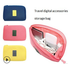 Wholesale Travel Cable Electronic Digital Storage Bag Earphone Data Line Organizer Mobile Power Charging USB Storage Case