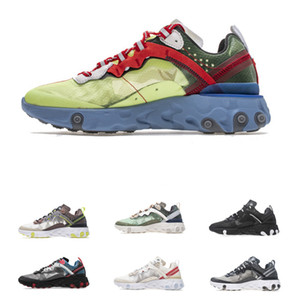 2019 React Element 87 Undercover Running Shoes Top Quality Men Womens Sports Running Sneakers Designer Shoes With Box Szie 36-46