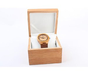 Wholesale New Natural bamboo flip watch box high grade watch gift packaging bamboo watches box