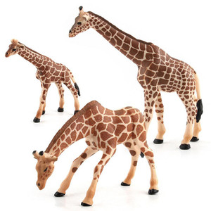 Wholesale Giraffe Model Toy Wild Animals toys set Zoo modeling plastic Solid PVC Giraffes Lifelike simulation Science Education