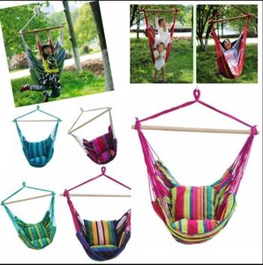 Wholesale hang chairs for sale - Group buy Hammock Rope Swing Seat Chair Home Bedroom Lazy Swing Chair Garden Hanging Cotton Rope Swing Chair Indoor Outdoor Fashion Hammock DHA350