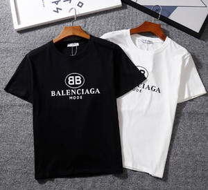 Wholesale 17color New GC brand BB MODE Letter printed casual o neck T Shirt simple and Fashion Short Sleeve Cotton T shirt top Tees hip hop style
