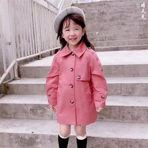 Wholesale Fashion brand autumn coat girls fashion long-sleeved cotton windbreaker, children's wear children's coat tops