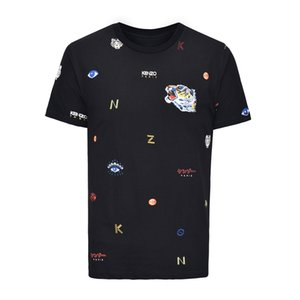 2018 High Quality Men Women short sleeve T shirt tiger eyes embroidery print cotton men cool t shirt hip hop tops tees