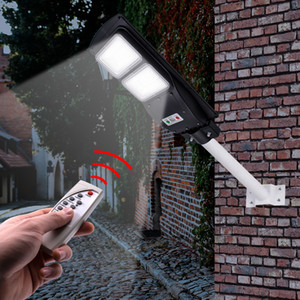 Waterproof Outdoor 60 90W LED Wall Street Light Lighting Remote Control Solar Street Light Garden Lampara for Suburban Home(Lamp Pole is NOT on Sale
