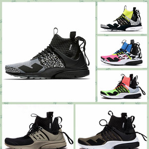 Wholesale NPSTHF New Arrival x Lab prestos Mid Running Shoes For Mens Women White Black Hot Lava prestos Shoes Trainers Outdoor Sports Sneaker