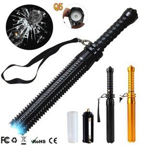 LED Flashlight Telescopic Self Defense Stick 4500LM 3 Mode Q5 Torch Lights Outdoor Patrol Rechargeable Flashlights