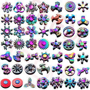120 types In stock Fidget spinner Rainbow hand spinners Tri-Fidget Metal Gyro Dragon wings eye finger toys spinning top handspinner witn box