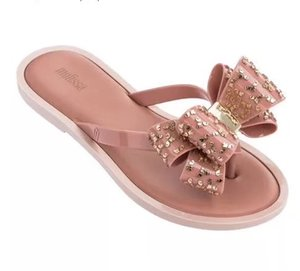 Wholesale Mini Melissa Original Shoes Brazilian Bowtie New Women Slippers Brand Jelly Shoes Melissa Female Jelly