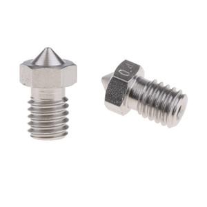 2pcs MK8 V6 1.75mm 0.4mm3D Printer Extruder Nozzles Stainless M6 Nickel Length 12.6mm
