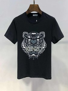Wholesale 2019 mens Casual Cotton t shirt mens designer shirts t shirts Summer Leisure Man Round Collar Short Sleeve T shirts M XL A8