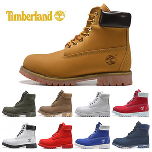 Wholesale Timberland designer luxury boots for mens winter boots top quality womens Military Triple White Black Camo size