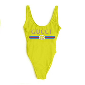 Wholesale Luxurious Italy Brand siamese swimwear Sexy Bikini Swimwear Women Bathing Suit Fashion Backless Swimwear for Lady Girl Bikinis