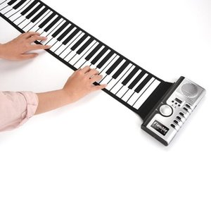 Wholesale 61 key hand roll piano with speaker silicone keyboard