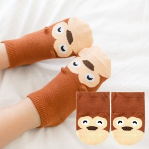 Baby Boy Socks Newborns Cotton Cartoon Animal Socks Infant Anti-Slip Toddle Girls Short Socks Summer Aumtumn on Sale