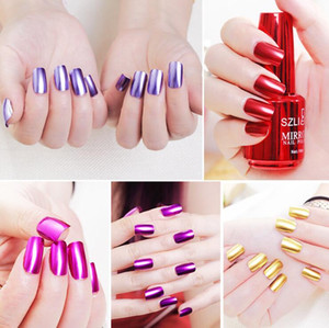 Wholesale Magic Mirror Effect Metallic Nail Polish Gel Titanium Chrome Harmless Nail Art Varnish Durable Long-Lasting Nail Art Polish